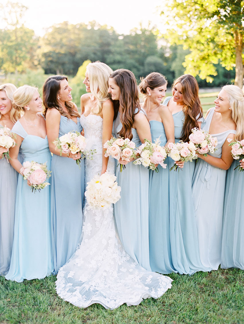 bridal party blue north carolina ryan ray