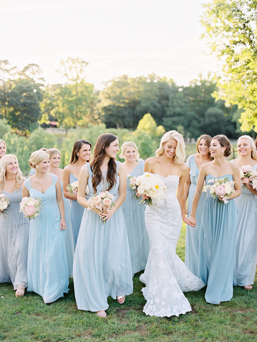 bridesmaids blue north carolina film wedding