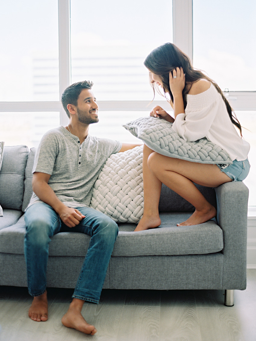 relaxed couples session