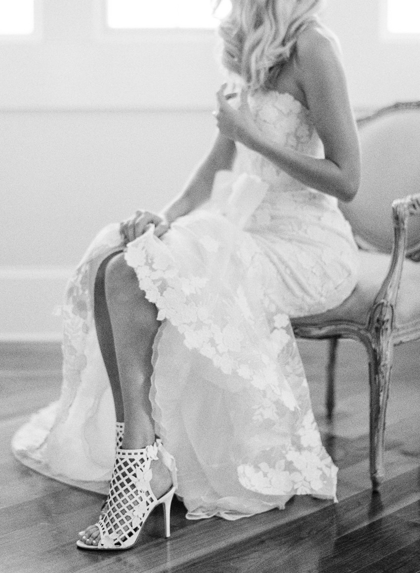 wedding dress with bow bows